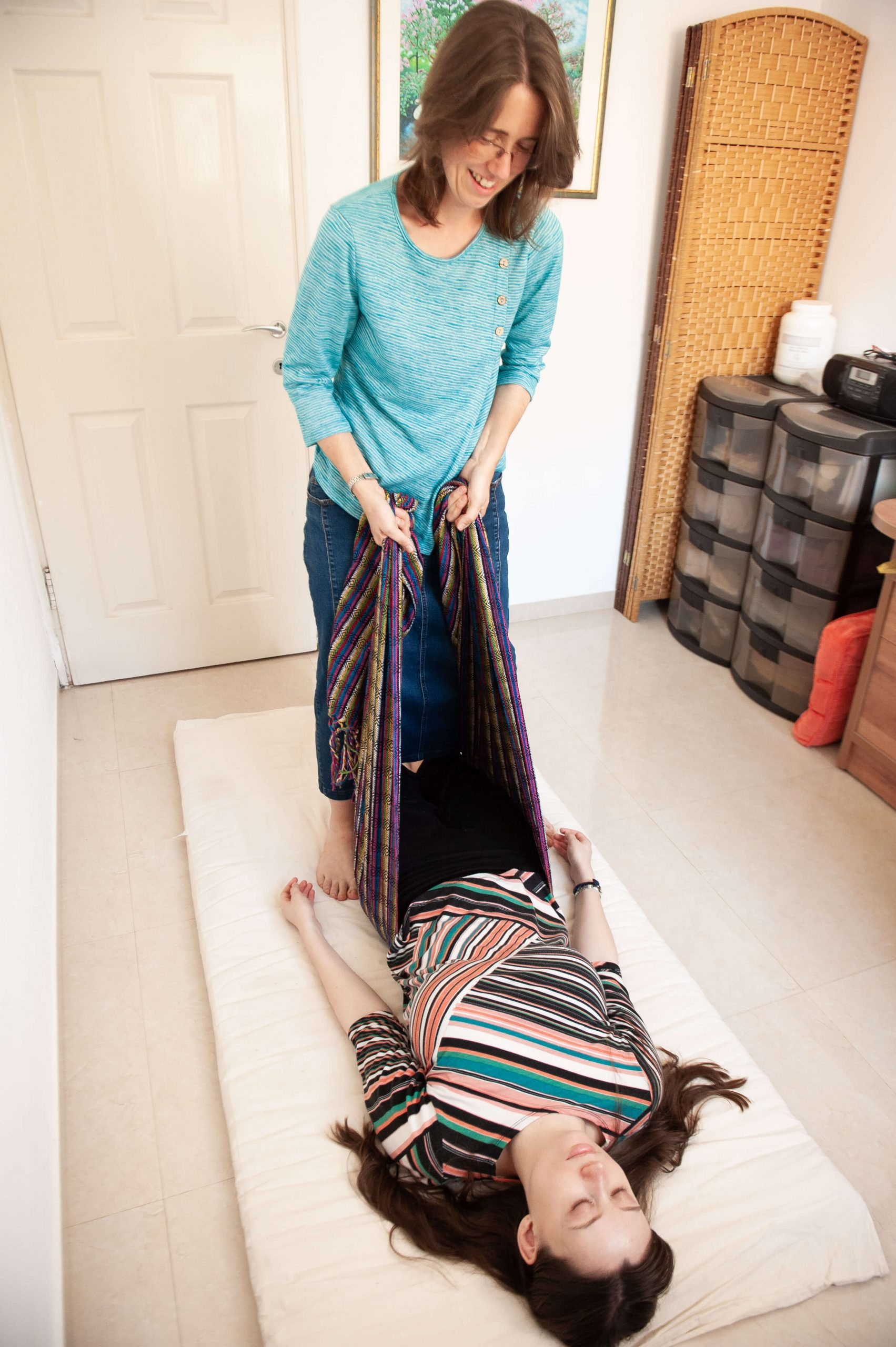 rebozo healing session